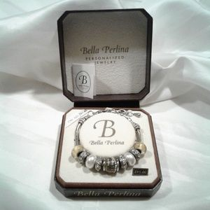 Charms Bracelet Bella Perlina gold white crystal